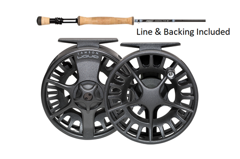 Airflo Coastal #8 Combo (Rod, Liquid 3.5 Reel, Ridge Tropical #8, 30lb Backing)