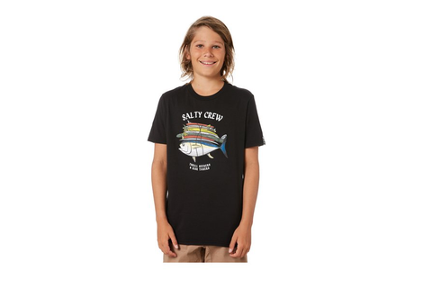 Salty Crew Voyager Short Sleeve Kids Tee Black