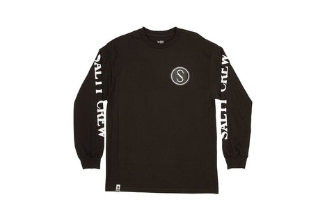 Salty Crew Patchwork Long Sleeve Tee Black