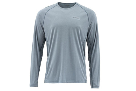 Simms SolarFlex Long Sleeve Crewneck Storm Heather Shirt
