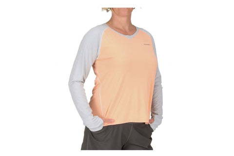 Simms Womens SolarFlex Long Sleeve Crewneck Sorbet Shirt