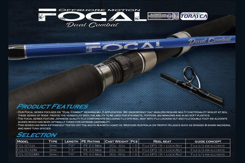 Oceans Legacy Offshore Motion Focal Dual Combat Casting Spin Rods