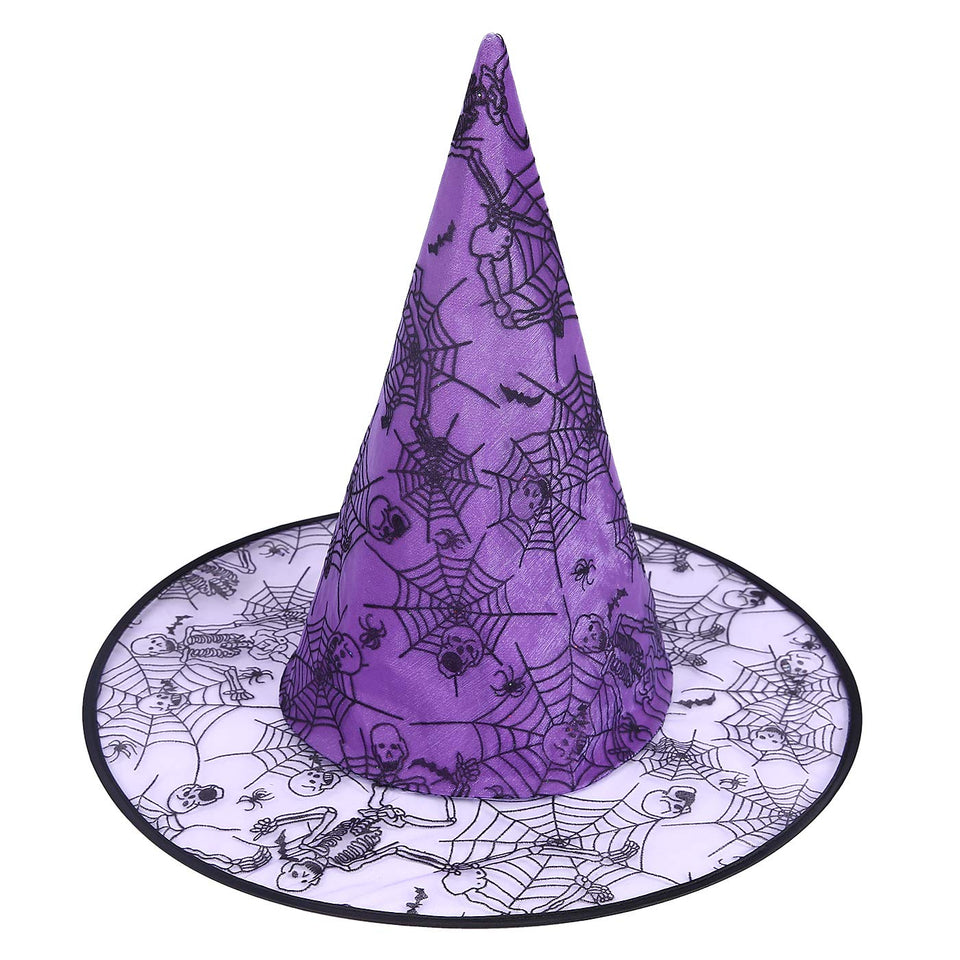 Bacekounefly Halloween Costume Witch Hat Accessory for Holiday Halloween Party