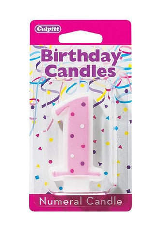 Candles Birthday Candle Mini Numeral #1 Culpitt