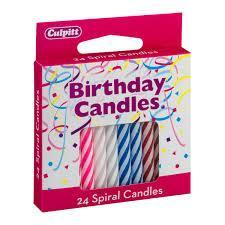 Dog Party Accessories Birthday Candles 24 Spiral Pack Bow Wow Beauty Shoppe