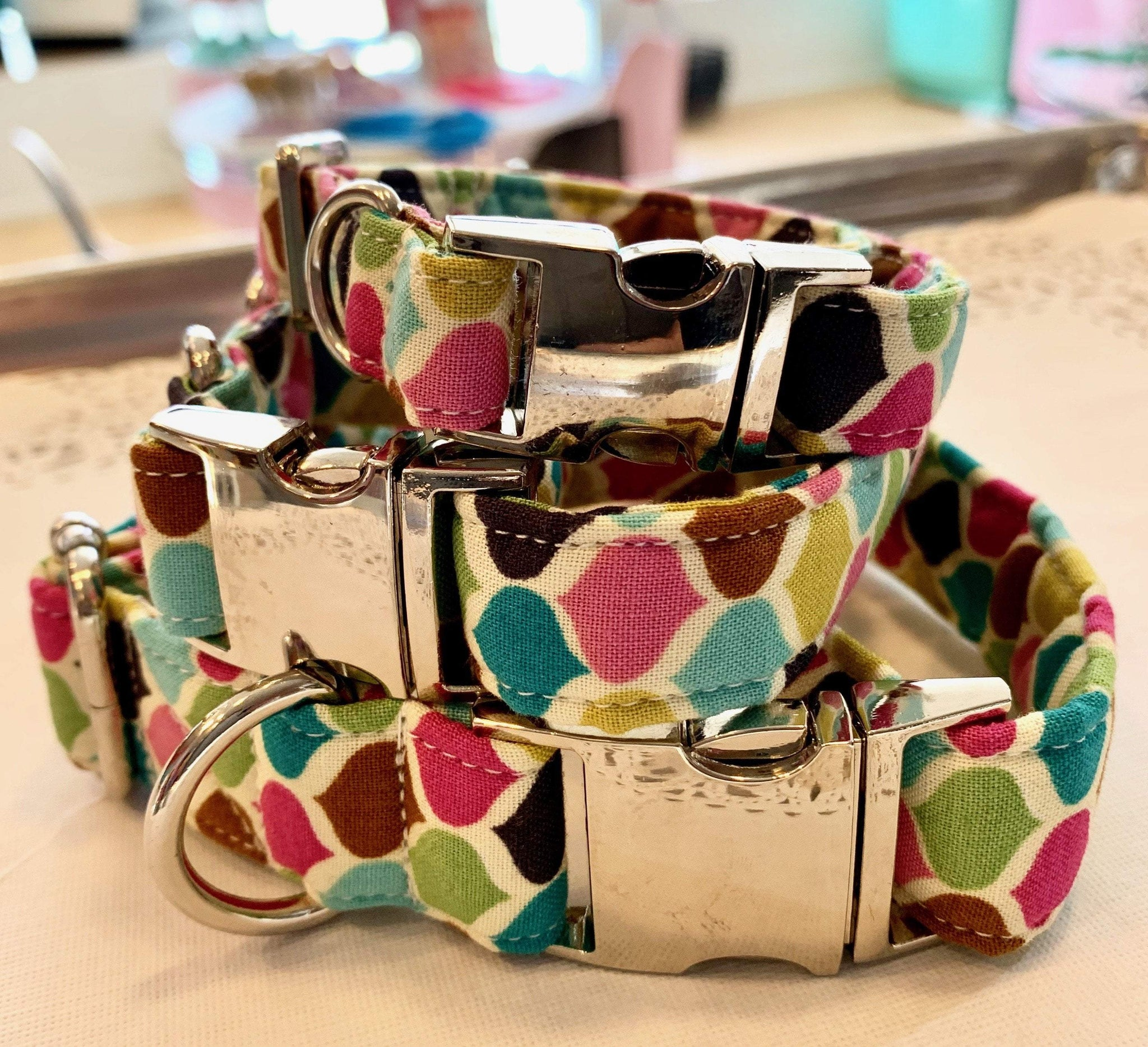 Pet Collars Dog Collar | Multi Color Bow Wow Beauty Shoppe
