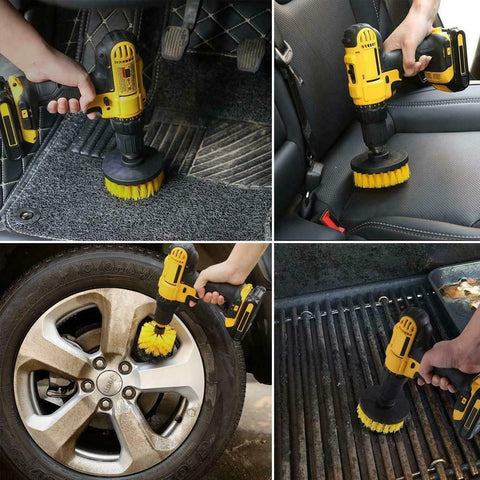 Drill Brush Attachment for Cars
