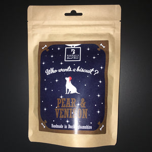 Pear & Venison Dog Biscuits Packet