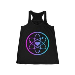 Love Power Atom in Women's Flowy Racerback Tank-Tank Top-Back To Zen