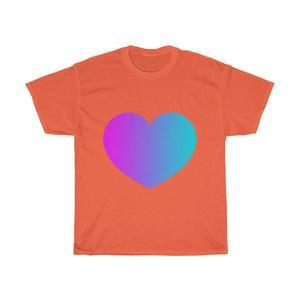 Love Heart Unisex Heavy Cotton Tee-T-Shirt-Back To Zen