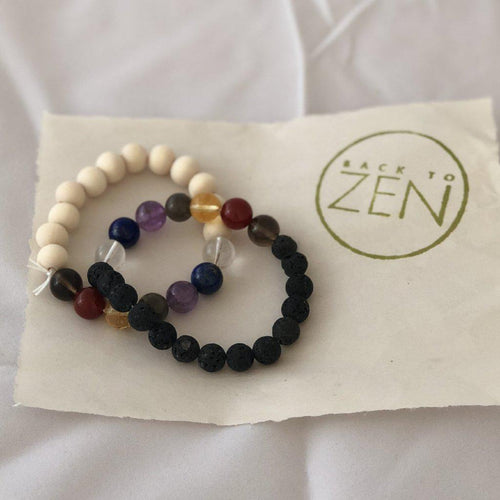 Bunches of Bracelets with Lava Beads-Mobile Store-Back To Zen