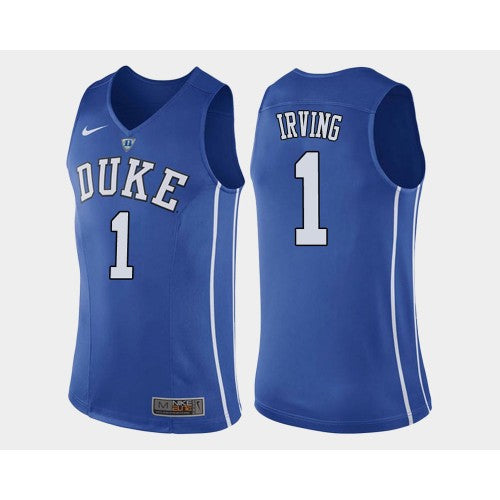 fc250f103f97 ... best price mens duke blue devils 1 kyrie irving jersey college  basketball blue azsportwears d17da c577b