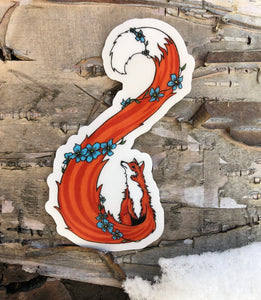 Forget-Me-Not Fox Sticker
