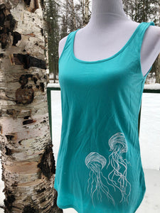 Jelly Love Teal Tank Top
