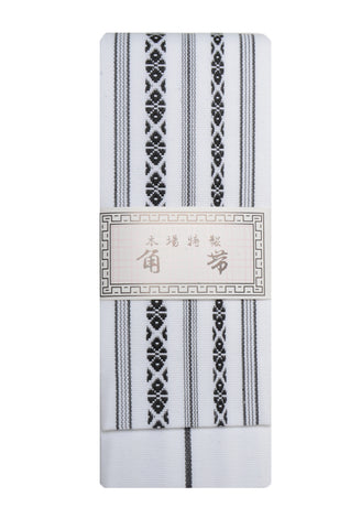 Men obi / Kenjou pattern : White