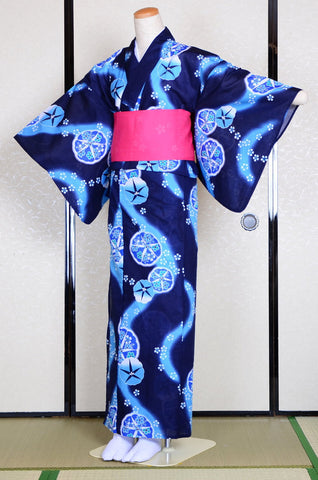 Yukata and obi and Geta set / ST #508