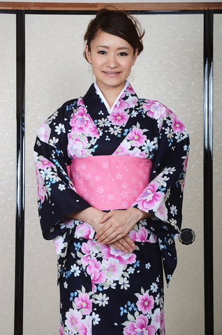 Yukata and obi and Geta set / D #64