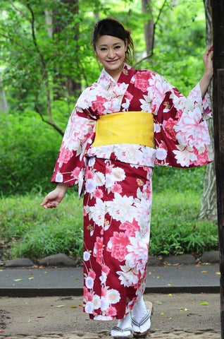 Yukata and obi and Geta set / D #66