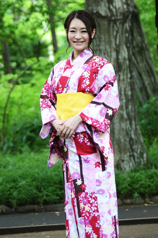 Yukata and obi and Geta set / D #82