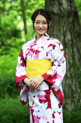 Yukata and obi and Geta set / D #83