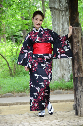 Yukata and obi and Geta set / ST #501