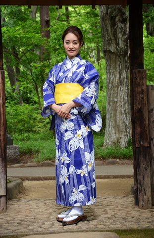 Yukata and obi and Geta set / ST #503