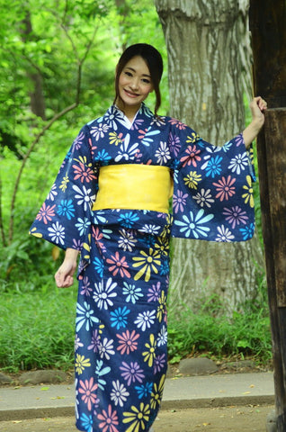 Yukata and obi and Geta set / ST #313