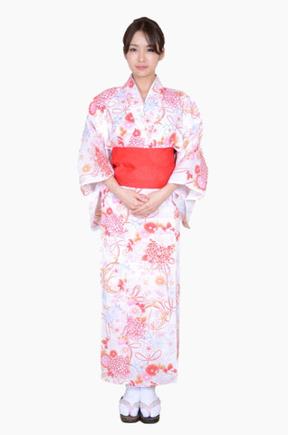 Yukata and obi and Geta set / ST #413