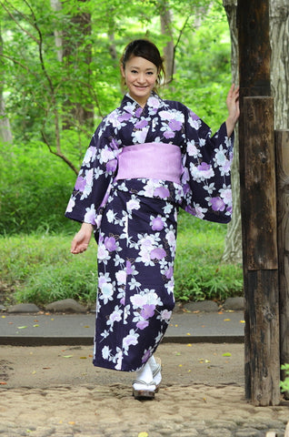 Yukata and obi and Geta set / D #68