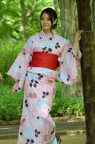 Yukata and obi and Geta set / ST #205