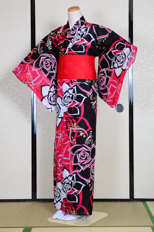 Yukata and obi and Geta set / D # 140