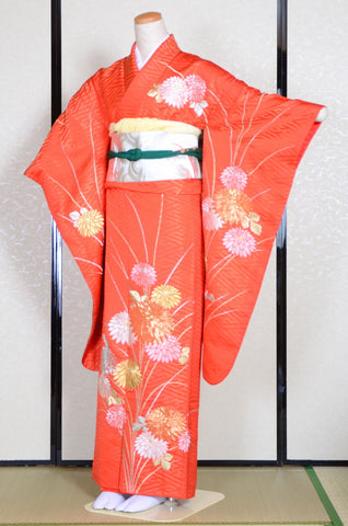 Long-sleeved kimono 6 items set / Furisode / FK#732