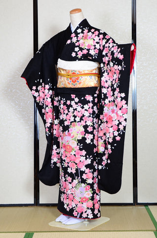 Long-sleeved kimono 6 items set / Furisode / FK#1-238