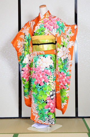 Long-sleeved kimono 6 items set / Furisode / FK#1-237
