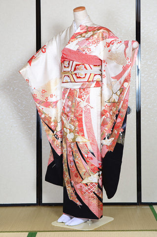Long-sleeved kimono 6 items set / Furisode / FK#1184