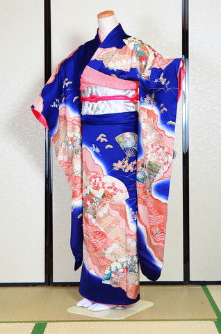 Long-sleeved kimono 6 items set / Furisode / FK#1081
