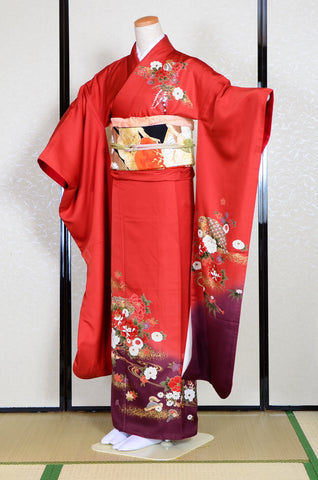 Long-sleeved kimono 6 items set / Furisode / FK#1062