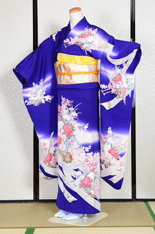 Long-sleeved kimono 6 items set / Furisode / FK#1129