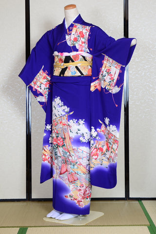 Long-sleeved kimono 6 items set / Furisode / FK#940