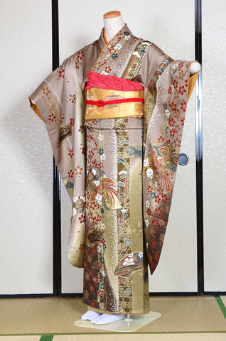 Long-sleeved kimono 6 items set / Furisode / FK#1-233