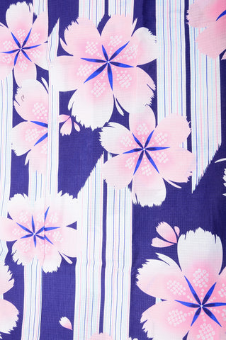 Yukata for indoor use / sakura :EM001-Blue