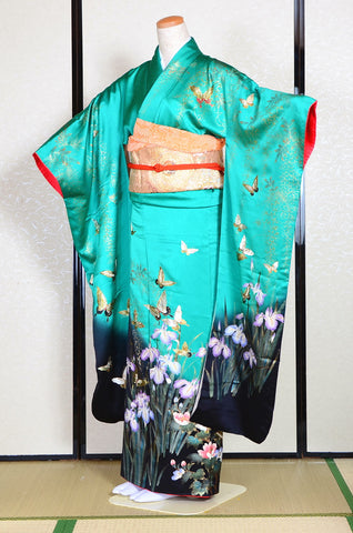 Long-sleeved kimono 6 items set / Furisode / FK#1131