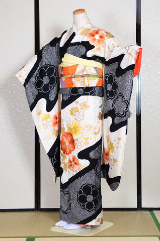 Long-sleeved kimono 6 items set / Furisode / FK#1189