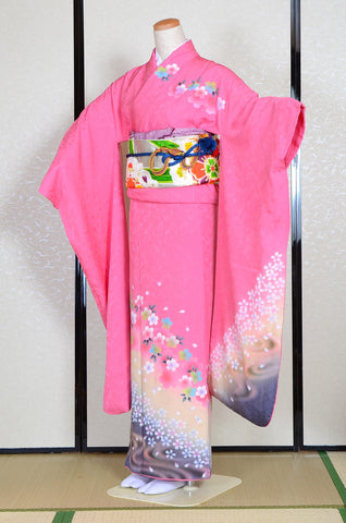 Long-sleeved kimono 6 items set / Furisode / FK#1-239