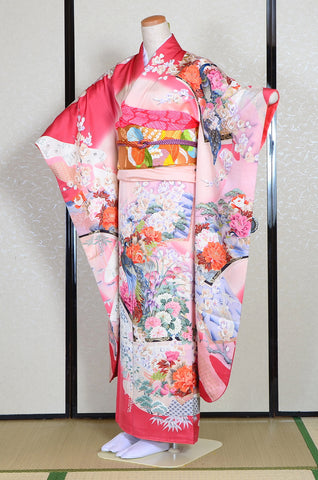 Long-sleeved kimono 6 items set / Furisode / FK#1193