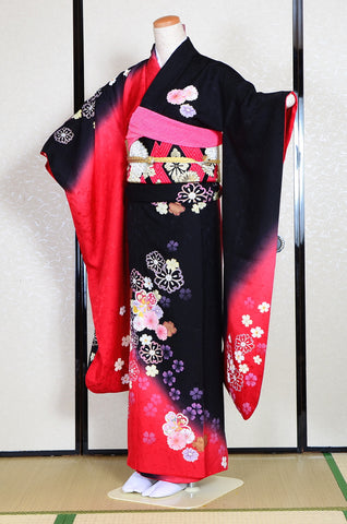 Long-sleeved kimono 6 items set / Furisode / FK#1-223
