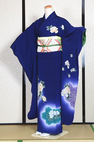 Long-sleeved kimono 6 items set / Furisode / FK#1186