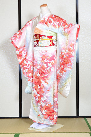 Long-sleeved kimono 6 items set / Furisode / FK#1130