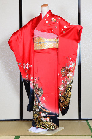 Long-sleeved kimono 6 items set / Furisode / FK#1182