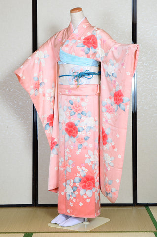 Long-sleeved kimono 6 items set / Furisode / FK#1195
